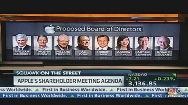 Apple's Shareholders to Quiz CEO Tim Cook