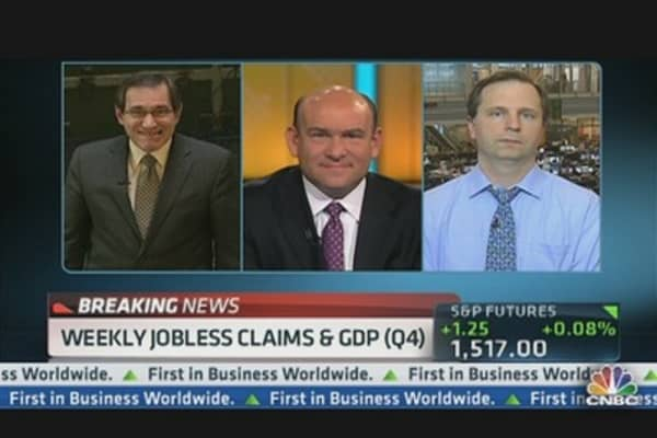 Jobless Claims Down 22K & Q4 GDP (Revised) Up 0.1%