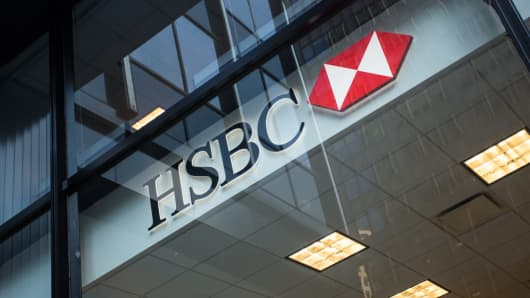 Logo of HSBC bank