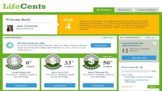 LifeCents website screenshot
