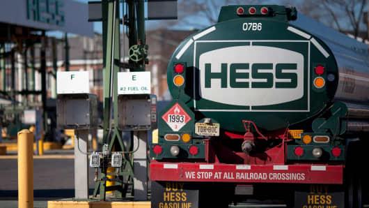 Hess oil gas truck