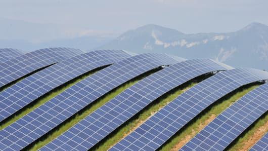 Solar field, France