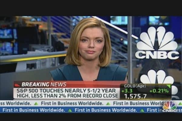 Dow Hits Record, Will Financials Follow?