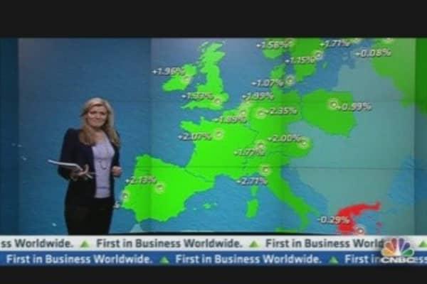 Europe Shares Close Higher After Upbeat Data