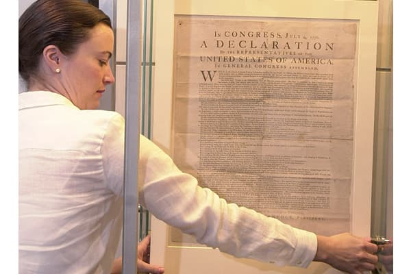 One of only 25 known surviving copies of the Declaration of Independence which were printed July 4, 1776.