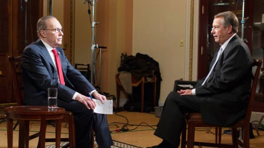Larry Kudlow interviews Speaker of the House John Boehner.