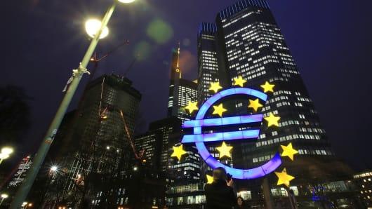 ECB headquarters in Frankfurt am Main, Germany.