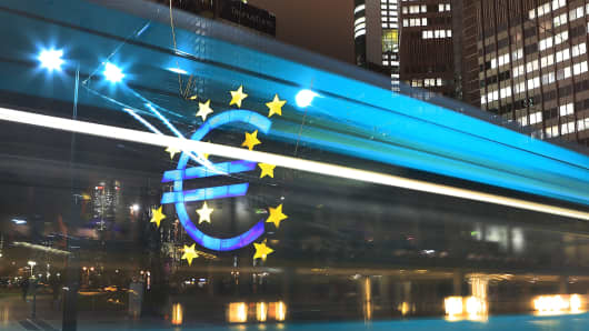 the headquarters of the European Central Bank (ECB) in Frankfurt, Germany
