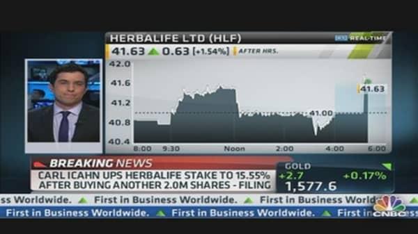 Carl Icahn Boosts Stake in Herbalife