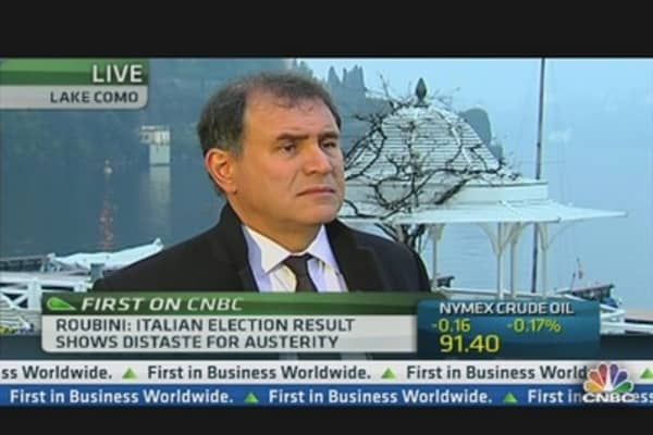 Italy to Start New Euro Zone Storm: Roubini