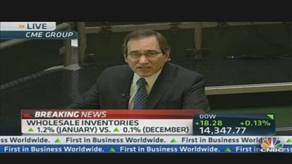 Wholesale Inventories Up 1.2% in January