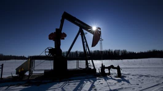 Oil field, Alberta, Canada