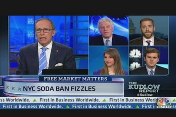 Judge Halts NYC Soda Ban