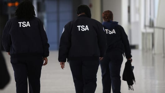 TSA workers at JFK airport