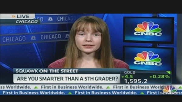 5th Grader Wins Financial Competition