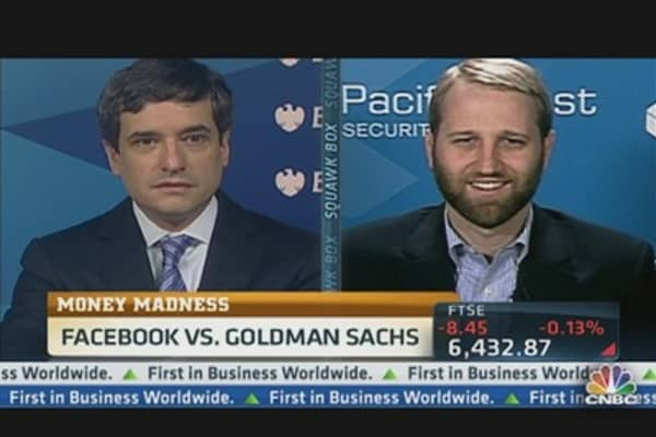 Money Madness: Facebook vs. Goldman Sachs