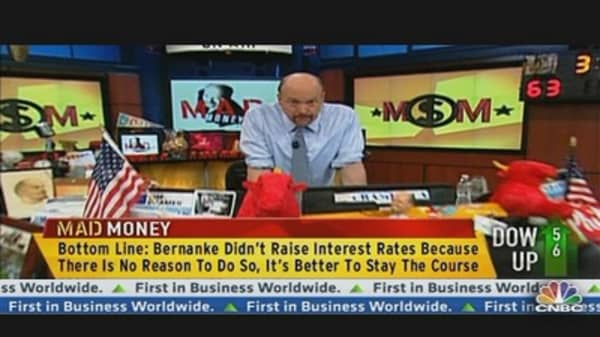 Cramer: Bernanke is Doing the Right Thing