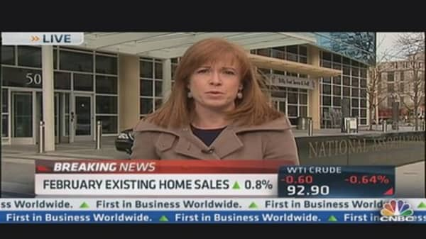 Existing Home Sales Up 0.8% in February