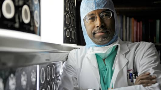 Dr. Benjamin S. Carson, a pediatric neurosurgeon, at Johns Hopkins Hospital in Baltimore.
