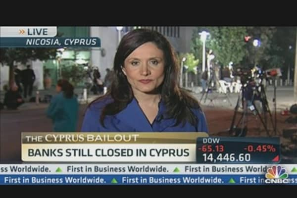 Protestors Gather Outside Cyprus Parliament