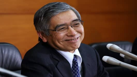 Bank Of Japan New Governor Haruhiko Kuroda
