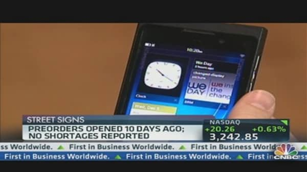 BlackBerry Z10 Launch: No Lines