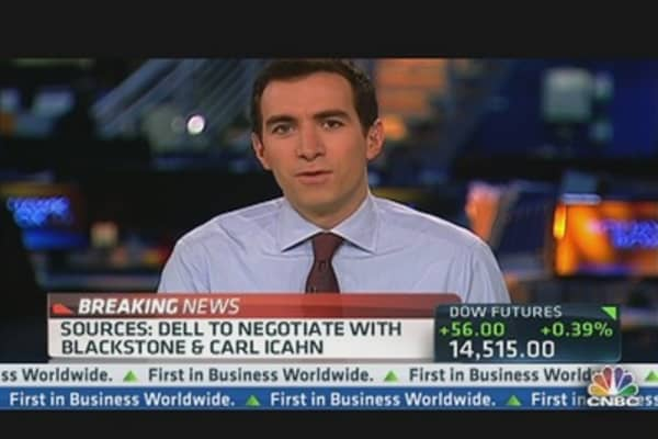 Dell to Negotiate With Blackstone & Carl Icahn