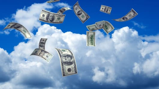 Image result for money in clouds