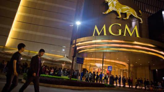 The MGM Macau casino resort, in Macau, China.