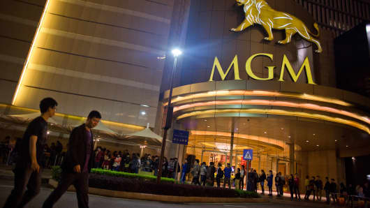 The MGM Macau casino resort, in Macau, China.