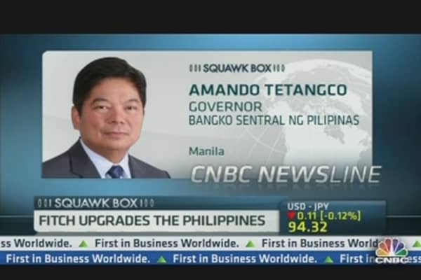 Philippine Central Bank Governor On Fitch Upgrade