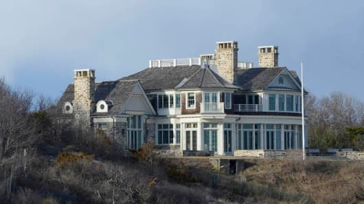 The oceanfront house in East Hampton that was torn down by Steve Cohen.