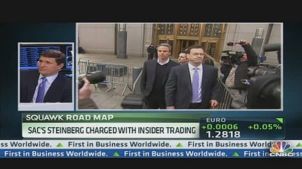 SAC's Steinberg Charged With Insider Trading