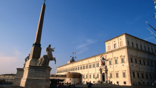 "The Palazzo del Quirinale where President Napolitano is meeting the panel of ""Wise Men."""