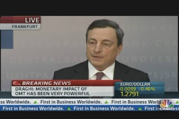 'Buck Does Not Stop With ECB': Draghi
