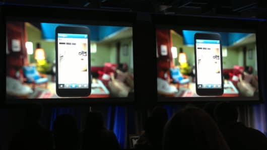 Facebook launches new mobile phone platform.