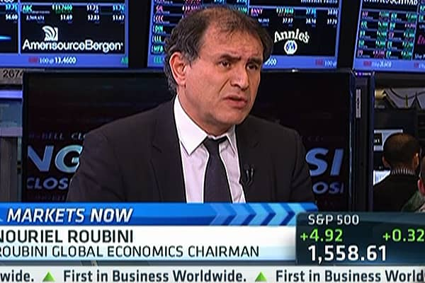 Roubini Sees Upside Surprise for Stocks, But ...