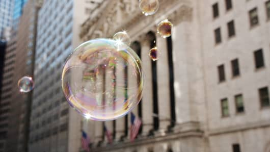 bubble economy stocks wall street