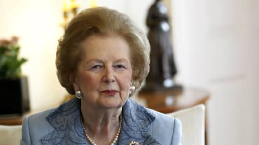 Former British Prime Minister Baroness Thatcher