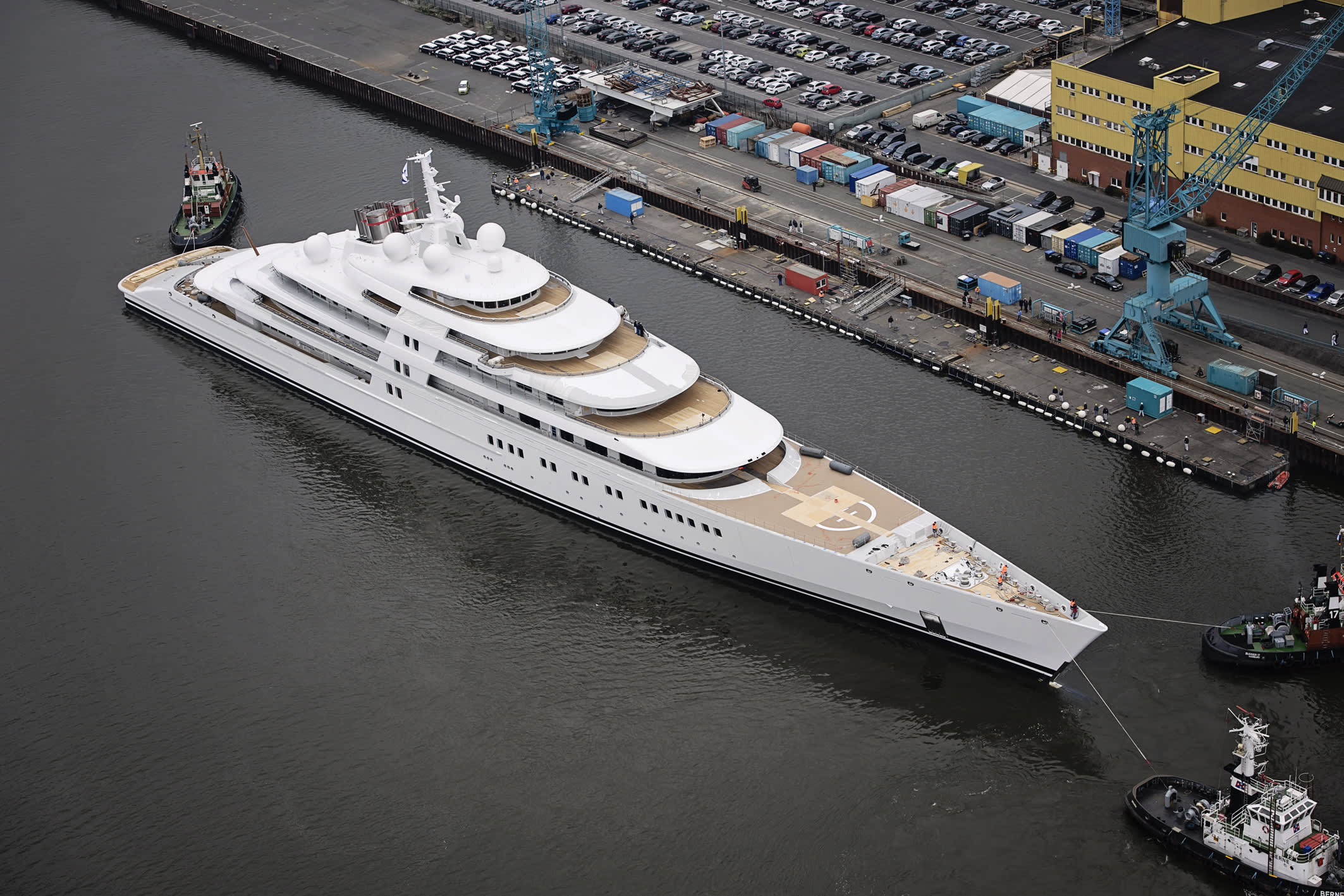 World's Biggest Yacht Launches at 590 Feet