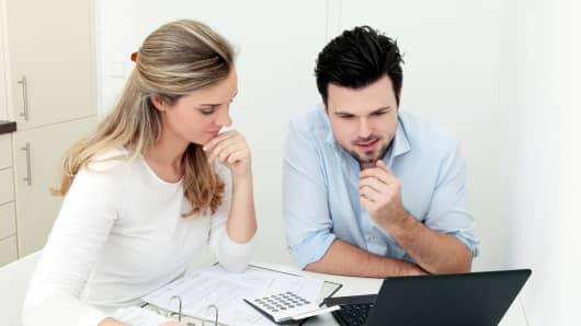 premium: couple in 30's planning retirement