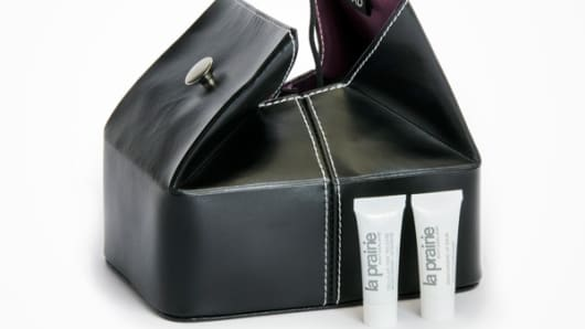 Ethiad Airways first class men's amenities bag.