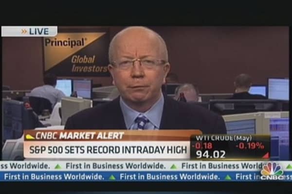 S&P Hits Record Intraday High