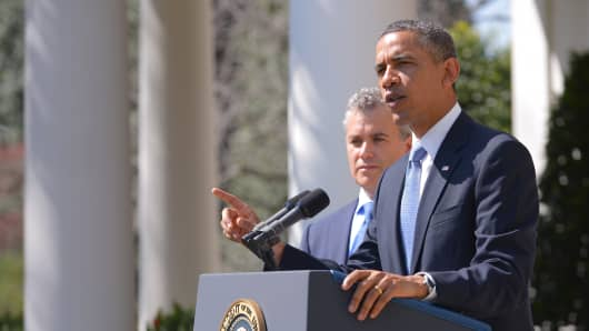 President Barack Obama speaks on the budget
