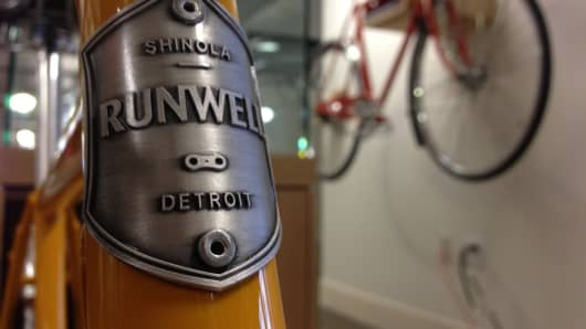 U.S. watchmaker, Shinola in Detroit Michigan.