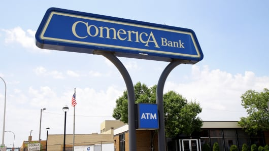A Comerica Bank branch