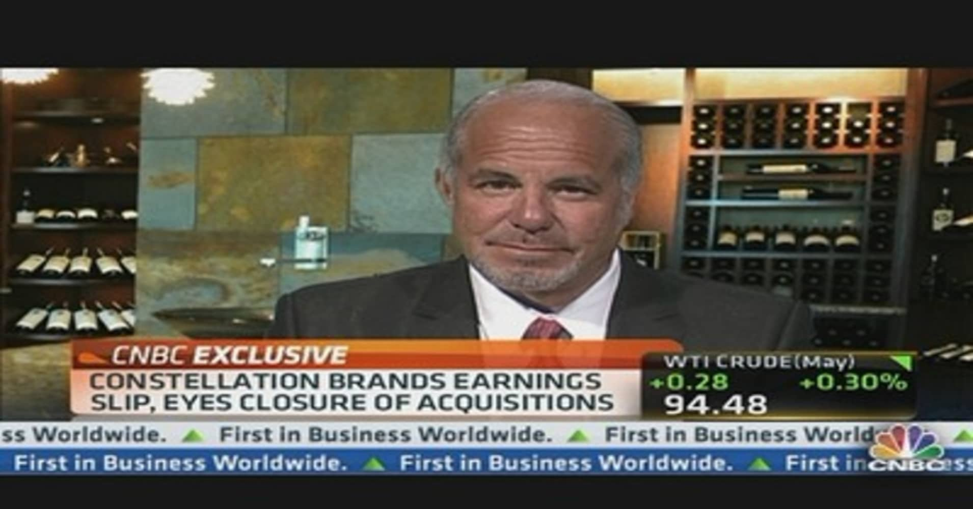 Constellation Brands CEO: Robust Sales Growth