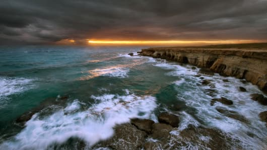 Stormy weather at Cavo Greco, Cyprus