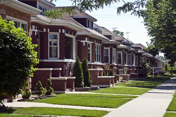 A Chicago neighborhood.