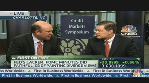 Fed's Lacker Favors 'Living Wills' For Banks